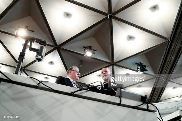 Former Lopavent CEO Rainer Schaller with his lawyer Harald Strassner attends his hearing of the Love Parade trial at the CCDEast on May 22 2018 in...