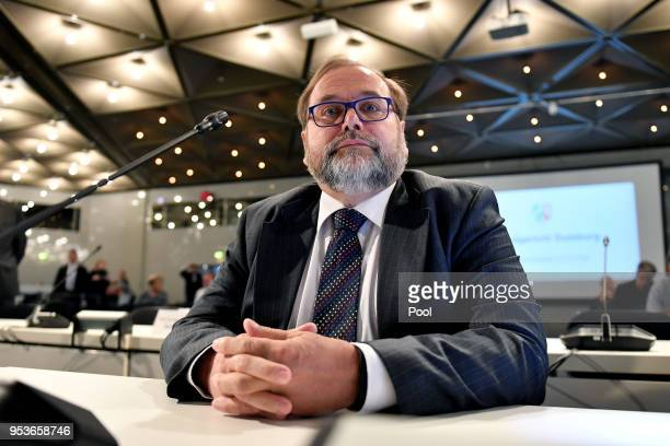 Former Lord Mayor of the city of Duisburg Adolf Sauerland attends the Love Parade trial at the CCD-East , on May 2nd, 2018 in Dusseldorf, Germany....