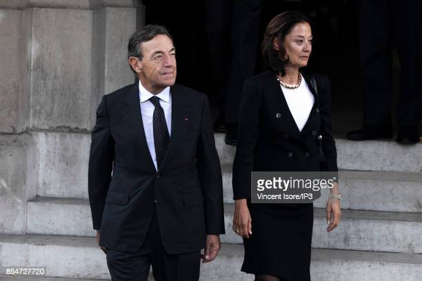 Former L'Oreal CEO Lindsay Owen Jones attends the Liliane Bettencourt's funeral organized at the Saint Pierre Church on September 26 2017 in...