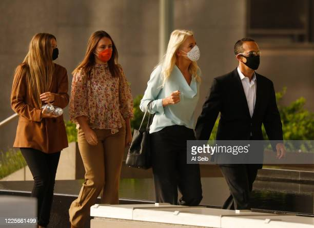 Former Los Angeles City Councilman Mitchell Englander arrives at Los Angeles federal courthouse in downtown LA Tuesday with his wife Jayne and...
