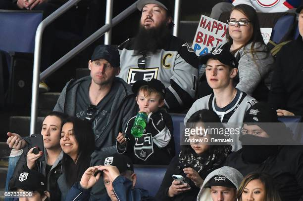 Former Los Angeles Kings Center Jason Allison attends a game between the Los Angeles Kings and the Winnipeg Jets at STAPLES Center on March 23 2017...