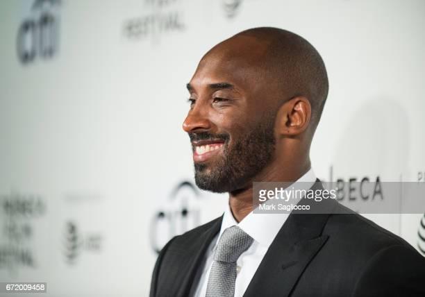 Former Los Angeles Laker's Basketball Planer Kobe Bryant attends the 2017 Tribeca Film Festival's Tribeca Talks Storytellers Kobe Bryant with Glen...
