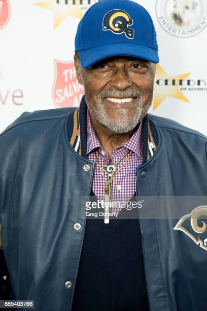 Former Los Angeles Ram Player Rosey Grier attends The Salvation Army Celebrity Kettle Kickoff Red Kettle Hollywood at the Original Farmers Market on...