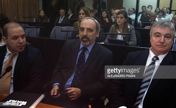 Former magistrate Juan Jose Galeano attends as defendant the first day of the trial on the 1994 AMIA bombing in Buenos Aires on August 6 2015 Former...