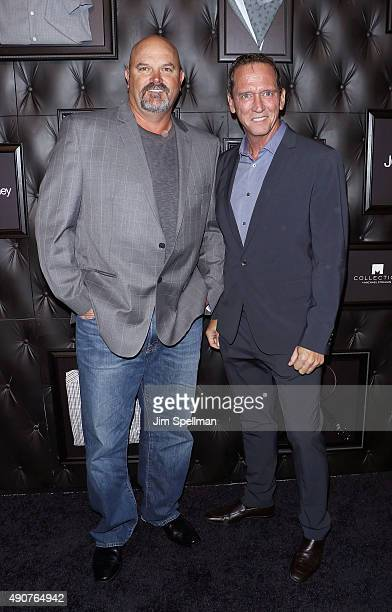 Former major league baseball pitchers David Wells and David Cone attend the JCPenney x Michael Strahan launch party at JCPenney on September 30 2015...