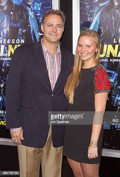 Former major league baseball player Al Leiter and daughter attend the 'Run All Night' New York premiere at AMC Lincoln Square Theater on March 9 2015...