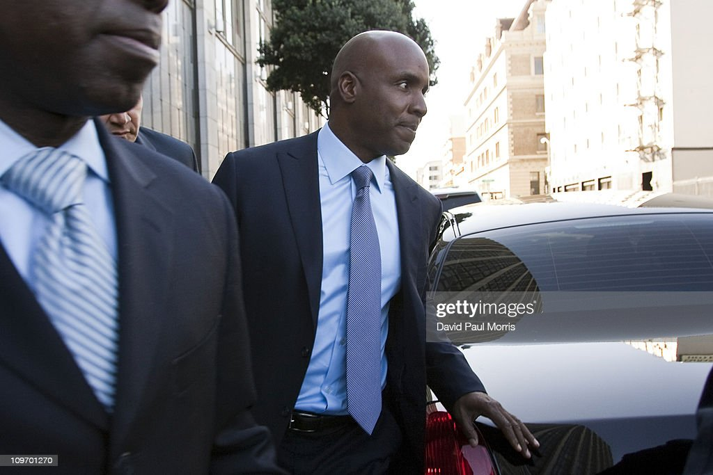 Former Major League Baseball player Barry Bonds leaves the Phillip Burton Federal Building and United States Court House March 1, 2011 in San Francisco, California. Barry Bonds and his former trainer Greg Anderson are appearing for an arraignment hearing ahead of a perjury trial that is expected to begin later in the month.