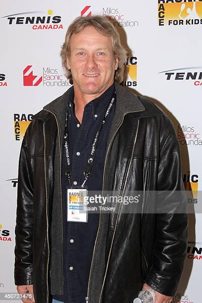 Former Major League Baseball player Kelly Gruber attends The 2nd Annual Raonic Race For Kids Fundraiser Benefitting The Milos Raonic Foundation on...