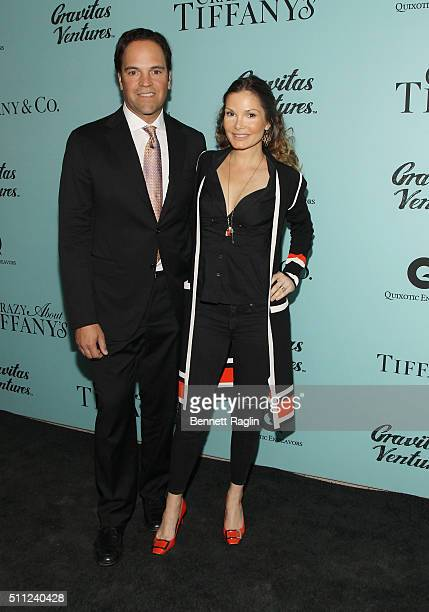 Former Major league baseball player Mike Piazza and actress Alicia Rickter attends the 'Crazy About Tiffany's' New York premiere at American Museum...