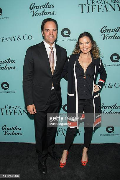 Former Major League Baseball Player Mike Piazza and Alicia Rickter attends the 'Crazy About Tiffany's' Premiere at the American Museum of Natural...