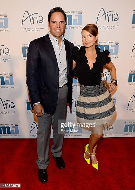Former Major League Baseball player Mike Piazza and wife Alicia Rickter arrive at the 13th annual Michael Jordan Celebrity Invitational gala at the...
