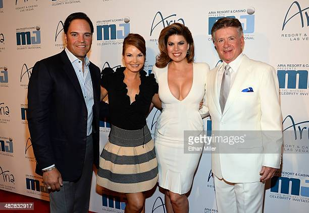 Former Major League Baseball player Mike Piazza his wife Alicia Rickter Tanya Callau and her husband actor Alan Thicke arrive at the 13th annual...