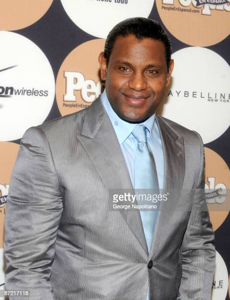 Former Major League baseball player Sammy Sosa attends People En Espanol's 50 Most Beautiful event at The Edison Ballroom on May 13 2009 in New York...