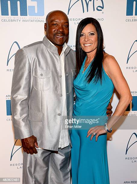 Former Major League Baseball player Vince Coleman and wife Denise Coleman arrive at the 13th annual Michael Jordan Celebrity Invitational gala at the...