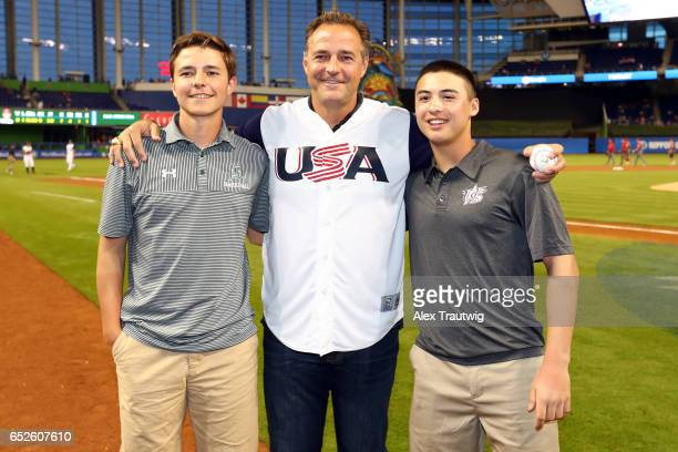 Former Major League Player Al Leiter poses for a photo after the ceremonial first pitch prior to Game 6 of Pool C of the 2017 World Baseball Classic...