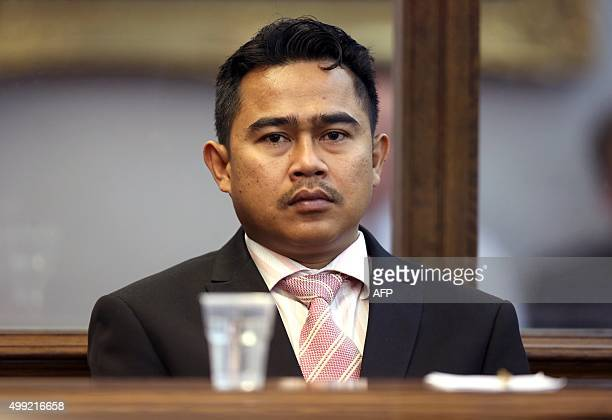 Former Malaysian diplomat Mohammed Rizalman bin Ismail sits in the dock as he pleads guilty in Wellington on November 30 to the indecent assault of a...