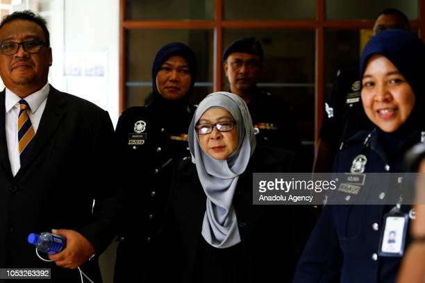 Former Malaysian head of intelijen agency Hashanah Abdul Hamid leaves Kuala Lumpur High Court after the court ruled RM 500 thousand bail for her...