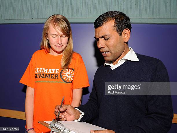 Former Maldivian President Mohamed Nasheed attends The Island President Boston Special Screening at Kendall Square Cinema on June 26 2012 in Boston...