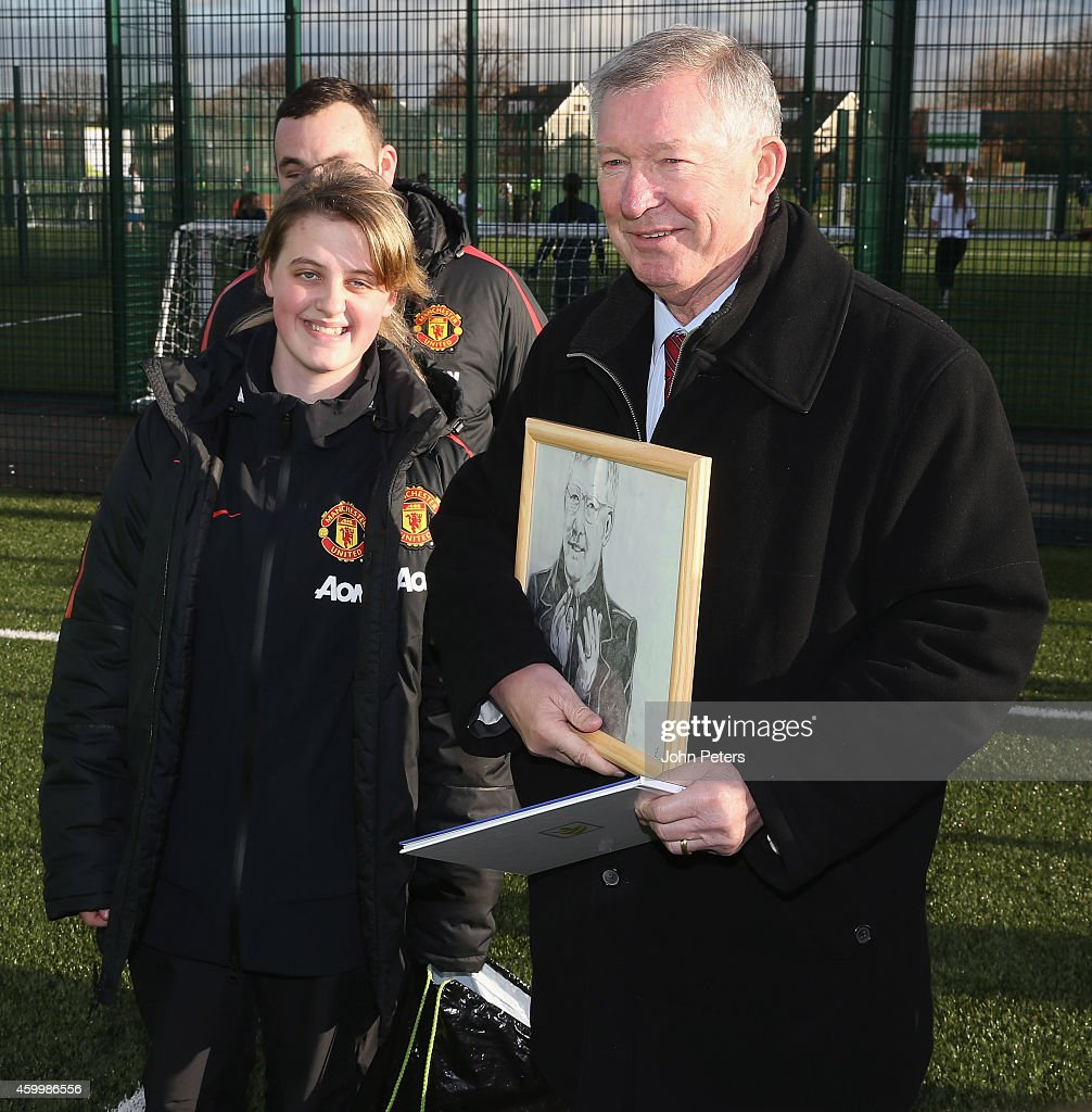 Sir Alex Ferguson Opens New 3G Pitches at the Manchester Enterprise Academy : News Photo