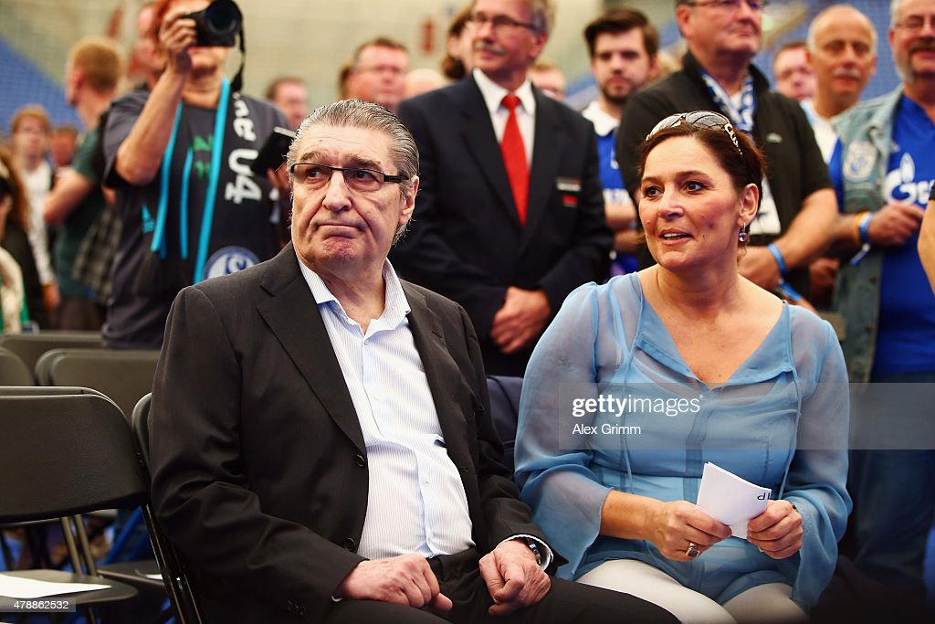 Former Manager Rudi Assauer And His Daughter Bettina Michel Attend