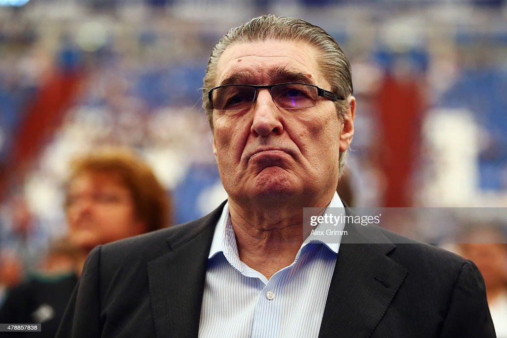 Former manager Rudi Assauer attends the general assembly of FC Schalke 04 at Veltins-Arena on June 28, 2015 in Gelsenkirchen, Germany.