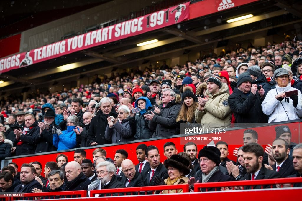 60th Anniversary of Munich Air Disaster - Old Trafford Ceremony : News Photo