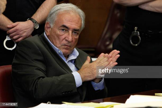 Former Managing Director of the International Monetary Fund Dominique StraussKahn appears in State Supreme Court for a bail hearing on May 19 2011 in...