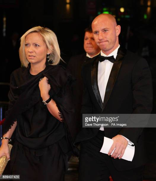 Former Manchester United footballer Nicky Butt arrives with his wife Shelley at The Lowry Theatre in Salford for the Royal Variety Performance