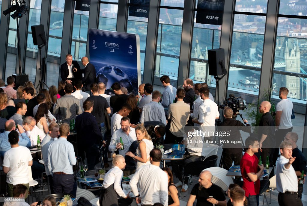 Liverpool v Real Madrid UEFA Champions League Final Official Viewing Party - Sky Garden : News Photo