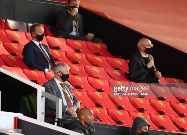 Former Manchester United manager Sir Alex Ferguson watches the game during the Premier League match between Manchester United and Crystal Palace at...
