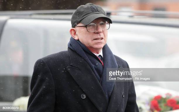 Former Manchester United Nobby Stiles arrives for the funeral of Busby Babe Albert Scanlon at All Souls Church in the Weaste area of Salford