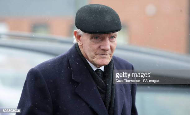 Former Manchester United player Bill Foulkes arrives for the funeral of Busby Babe Albert Scanlon at All Souls Church in the Weaste area of Salford