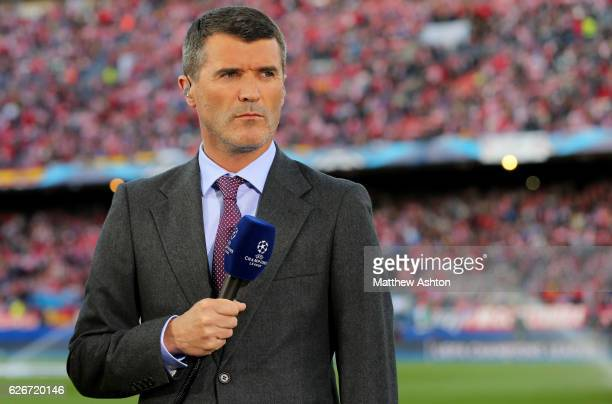 Former Manchester Untied player Roy Keane working for ITV Sport