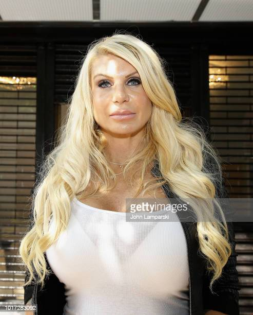 Former Manhattan Madam Kristin Davis is seen in Harlem a section of New York City on August 15 2018 in New York City