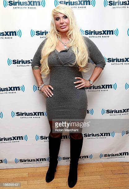 Former Manhattan Madam Kristin Davis visits the SiriusXM Studios on November 13 2012 in New York City
