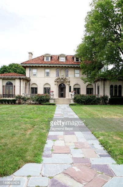 Former mansion of Motown Records founder Berry Gordy in Detroit Michigan on JULY 22 2012