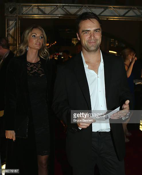 Former Maple Leaf Curtis Joseph arrives for the Hockey Hall of Fame induction ceremony at Brookfield Place on November 12 2012 in Toronto Canada