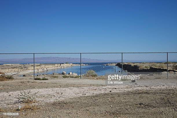 CONTENT] A former marina on the Salton Sea is fenced off for your protection