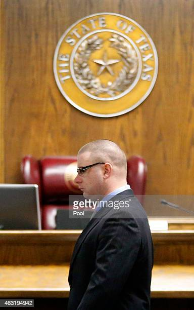 Former Marine Cpl Eddie Ray Routh appears in court on the opening day of his capital murder trial at the Erath County Donald R Jones Justice Center...