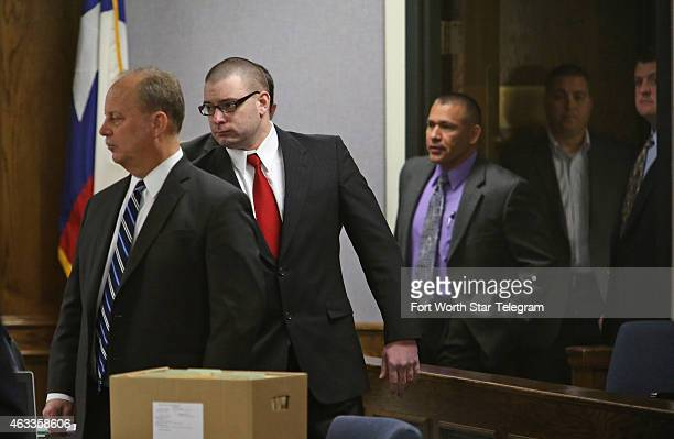 Former Marine Cpl Eddie Ray Routh enters the courtroom after a short midmorning break for jurors at the Erath County Donald R Jones Justice Center on...