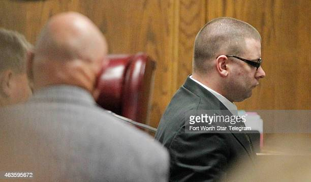 Former Marine Cpl Eddie Ray Routh leaves for lunch during his capital murder trial of former Marine Cpl Eddie Ray Routh at the Erath County Donald R...