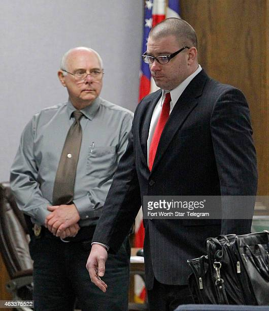 Former Marine Cpl Eddie Ray Routh walks in to the courtroom after lunch recess at the Erath County Donald R Jones Justice Center on Friday Feb 13...