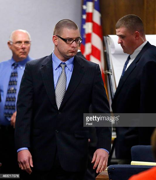 Former Marine Cpl Eddie Ray Routh walks to his seat during the capital murder trial of former Marine Cpl Eddie Ray Routh at the Erath County Donald R...