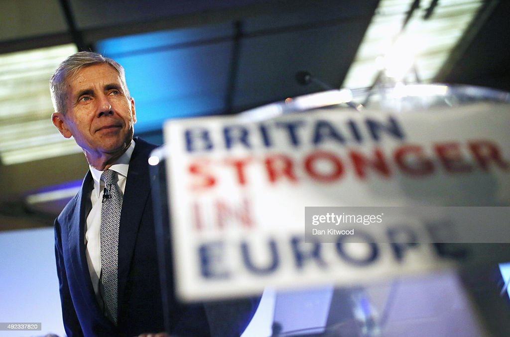 Stuart Rose Launches The Stronger In Europe Campaign : News Photo