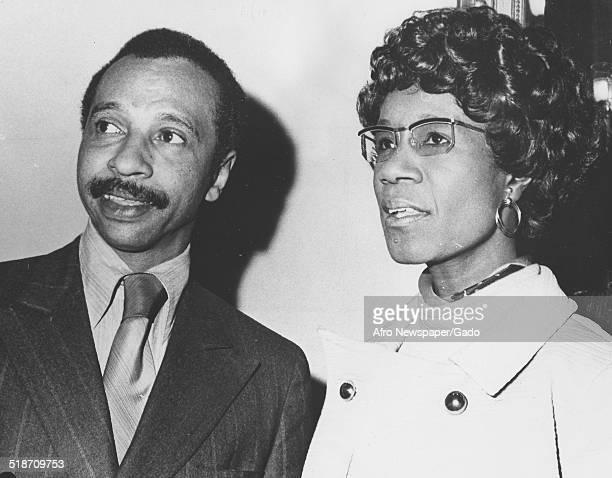 Former Maryland Democratic Congressman Parren Mitchell and former United States congresswoman Shirley Chisholm 1985