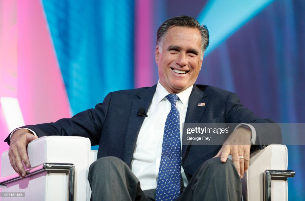 Mitt Romney Addresses Silicon Slopes Summit In Salt Lake City : News Photo