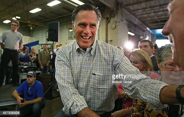 Former Massachusetts governor Mitt Romney appeared with former Massachusetts senator and current candidate for the senate from New Hampshire Scott...