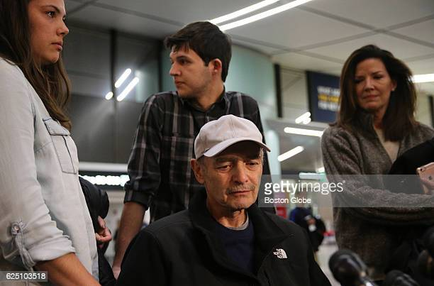 Former Massachusetts House Speaker Salvatore F DiMasi arrives at Logan International Airport in Boston on Nov 22 2016 DiMasi was granted early...