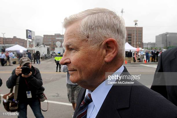 Former Massachusetts State Senate President William Bulger exits John Joseph Moakley United States Courthouse following the arraignment of his...