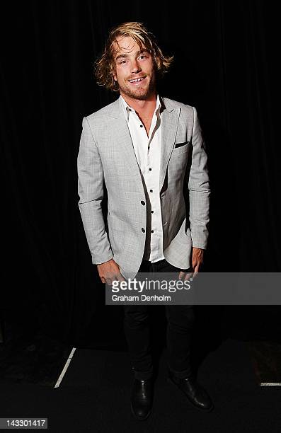Former Masterchef contestant and CLEO Bachelor of the Year 2012 winner Hayden Quinn attends the Masterchef Australia Network Ten launch party,...